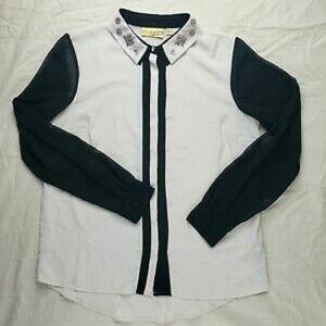 Juniors Princess Vera Wang Embellished Shirt Large